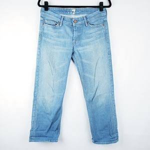 7 for all mankind jeans Cropped FLYNT Sz 29 Blue